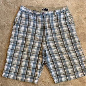 Red Snap men's plaid shorts size 34